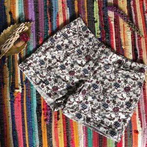 LOFT Shorts - White Floral Shorts